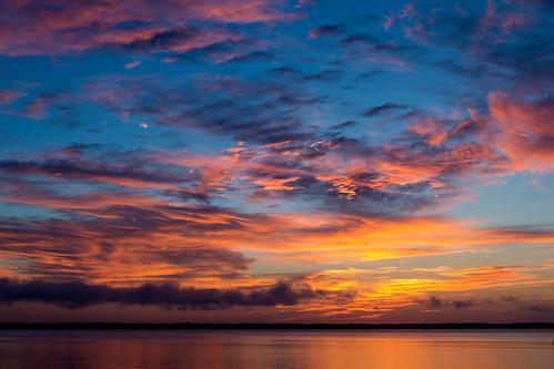 sunset beach water sunrise