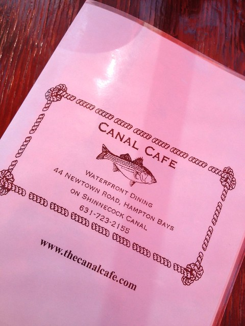 Canal Cafe menu