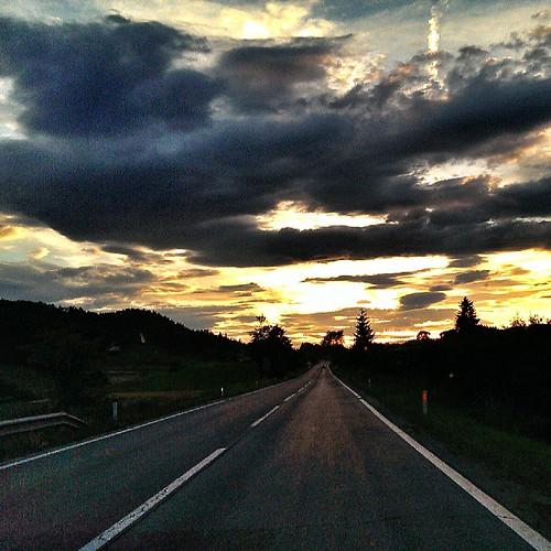 sunset sky square slovenia squareformat normal cloudporn velenje ifeelslovenia instagramapp uploaded:by=instagram foursquare:venue=4fff1dfee4b0671608f529e7