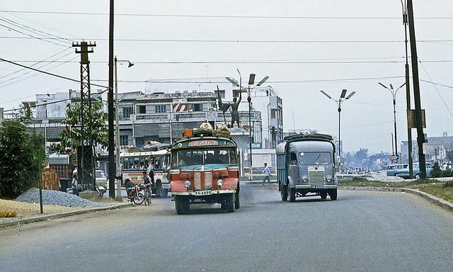 Saigon 1969 - bùng binh Cây Gõ, giữa vòng xoay là tượng đài Lê Lợi