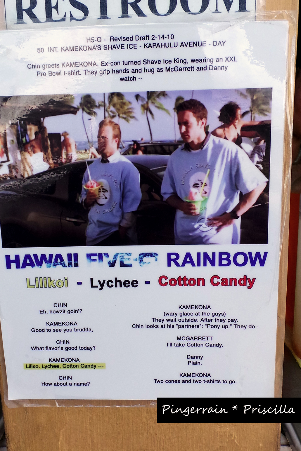 Hawaii Five O Shave Ice Combi