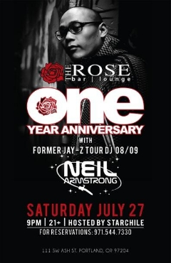 7/27 - Sat - Come Celebrate the 1 Yr anniversary Of the Rose Lounge PDX