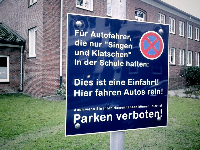Parkverbotschild Volksdorf