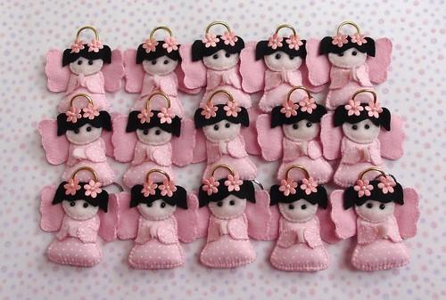 Anjinhas em feltro by Cute for Baby by Mirian Rezende