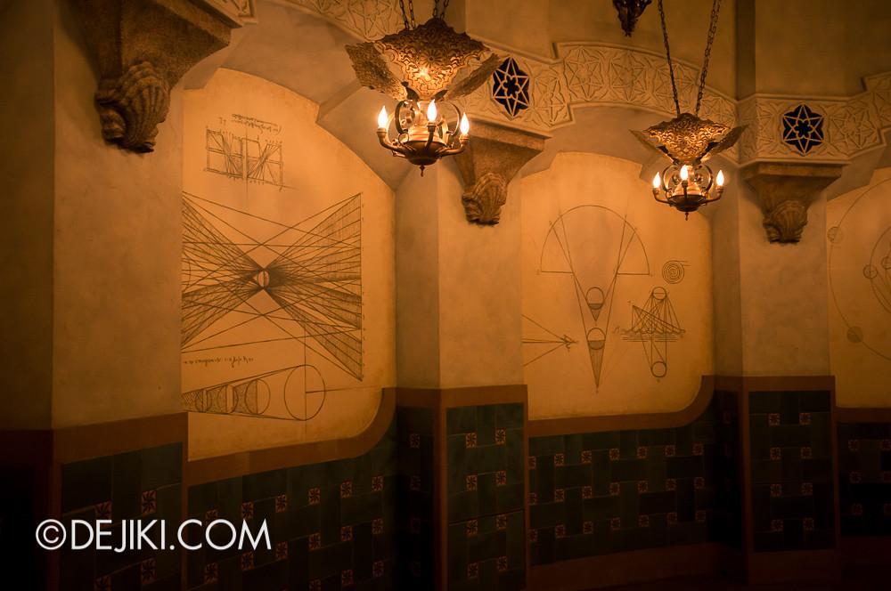 Tokyo DisneySea - Mediterranean Harbor / Fortress Explorations / Chamber of Planets walls