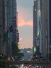 Cloudy Manhattanhenge on 42nd Street by caslami