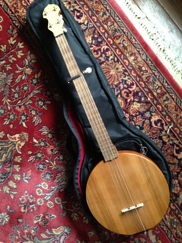 Wooden top banjo