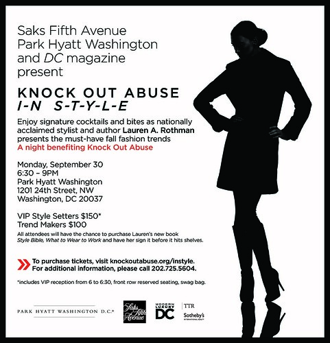 Knock Out Abuse in Style Invitation