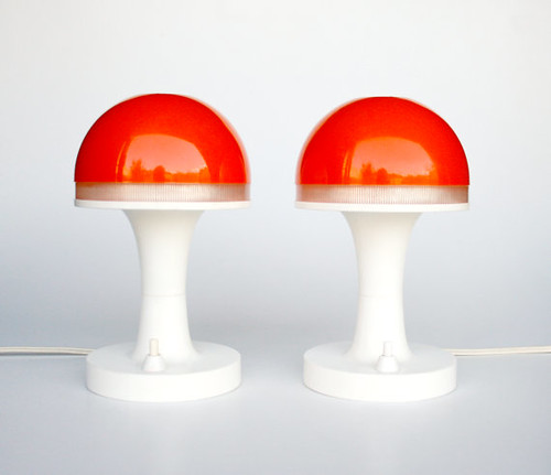 Mid Century Modern Atomic Mushroom Desk Lamp / Verner Panton Style Space Age Lighting / 70's Retro Decor