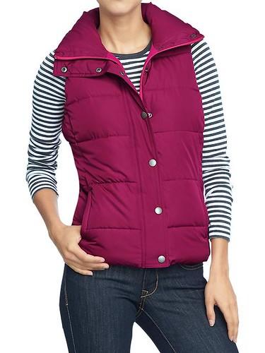 raspberry frost free vest