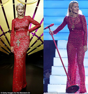 Rita & Helen Who wore red D&G dress better?