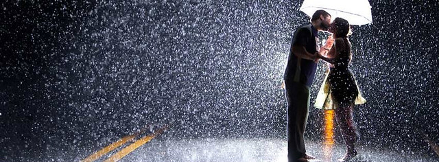 Couple Kissing In Rain Facebook Cover Photo
