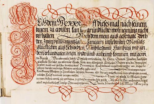 005-Kalligraphische Schriftvorlagen- 1626-1634- Johann Hering- Staatsbibliothek Bamberg