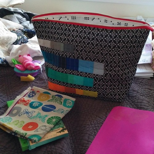 Grace Pouch swap received. So huge. Love it. Thank you, Laura!