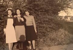 1947 1. Staff nurse 2.Philippa Richards Sutherland, cook) 3. Hannie Rotman, Cheltenham Ladies College, England