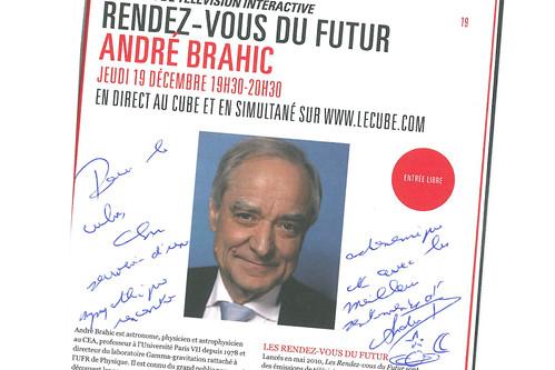 dédicace d' André Brahic invité des RDV du Futur 7.11.2013
