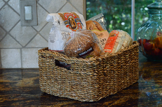 Iu0027m crazy about my new bread basket. I found this Hogla Handled Storage Basket at The Container Store for $14.99. It fits perfectly in my pantry but is ... & My Pantry Organization Project   Valerieu0027s Kitchen
