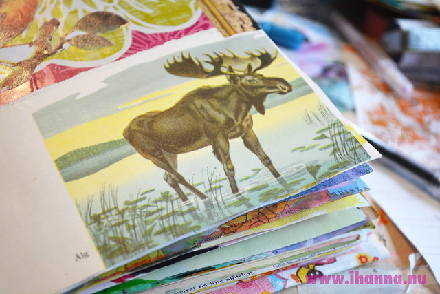 Art Journal Detail: Fab Forest King Illustration