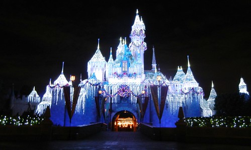 Holiday Disneyland Castle!