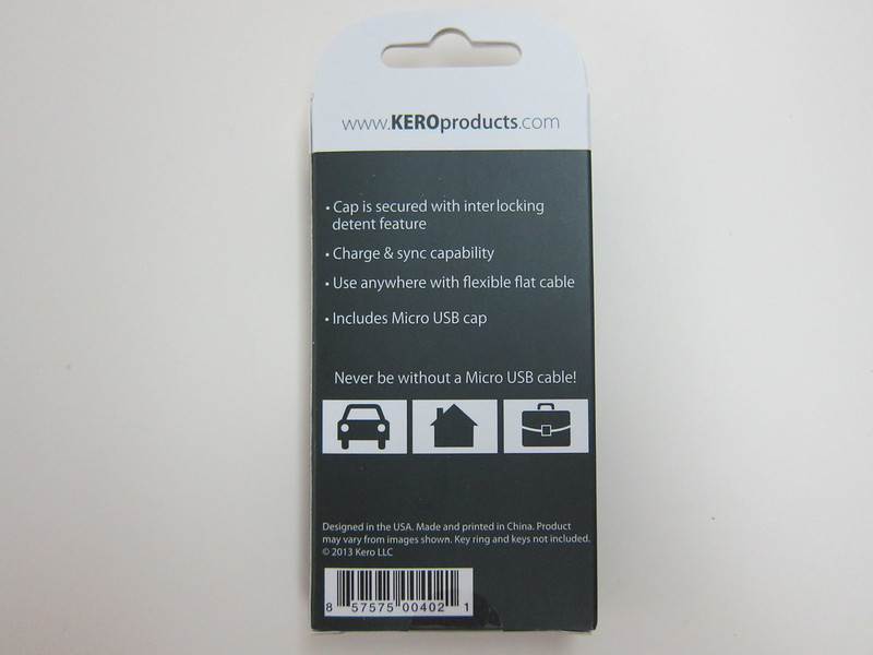 Kero - Micro USB Nomad Cable - Box Back