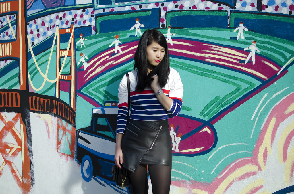 bay area style, readytwowear, nars dragon girl lip pencil, bay area fashion blogger, PU leather mini skirt