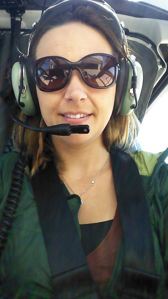 Melanie flying