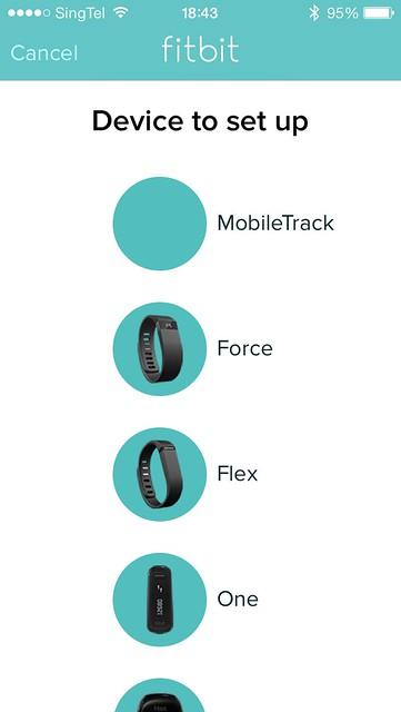 Fitbit Flex iOS App - Setup Device