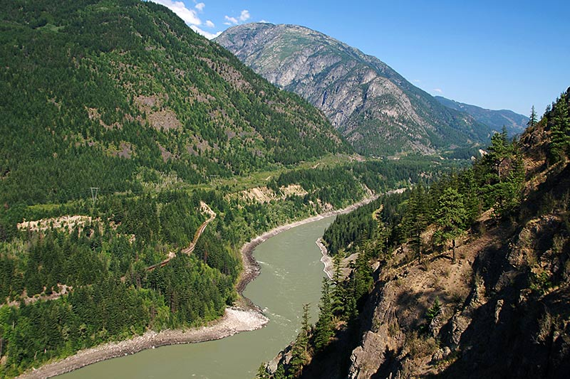 Fraser River viewed from Jackass Mountain Summit, north of Boston Bar, Fraser Canyon, British Columbia