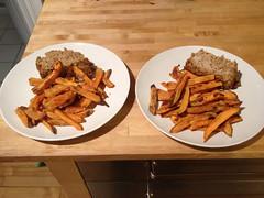 turkey meatloaf & sweet potato fries