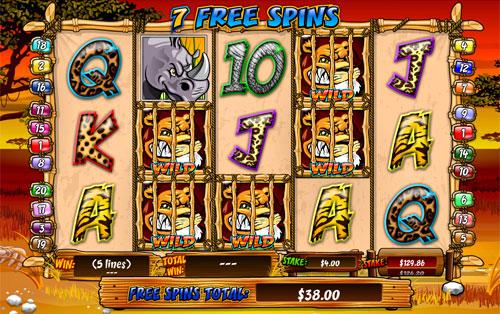 free Wild Gambler slot free spins