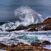 Giant waves in a turquoise sea. Point Lobos State Reserve in Carmel, California - one of the most beautiful places on the planet. #waves #ocean #pacific #california #pointlobos #seascape