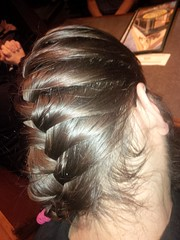chignon(0.0), bun(0.0), hairstyle(1.0), brown(1.0), hair(1.0), brown hair(1.0), hair coloring(1.0), braid(1.0),