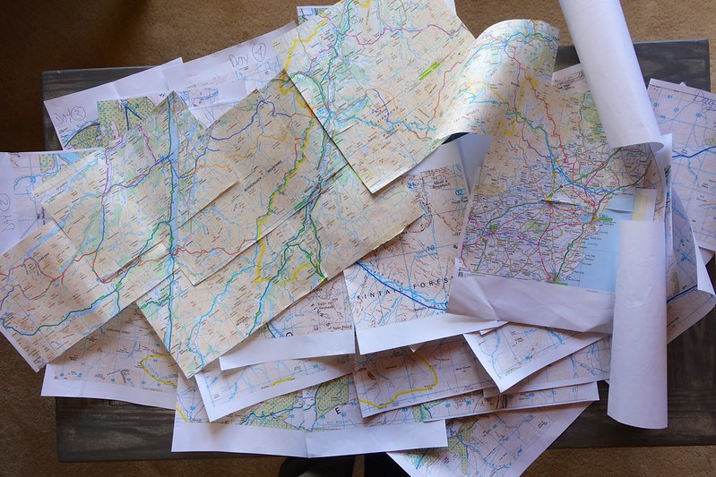 Route Planning Using LOTS of Printed Maps