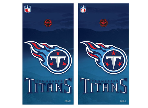 Tennessee Titans Cornhole Game Decal Set