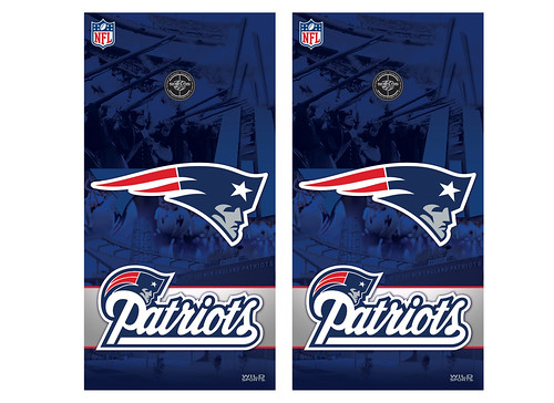 New England Patriots Cornhole Game Decal Set