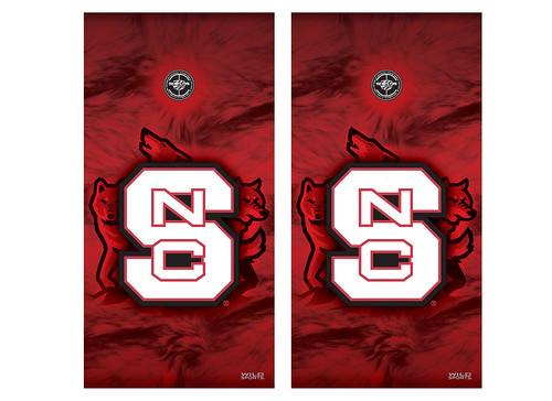 North Carolina State Cornhole Game Decal Set