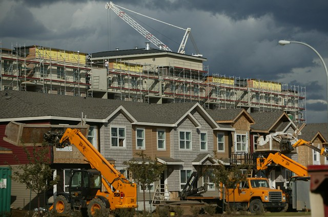 Housing construction in Fort McMurray