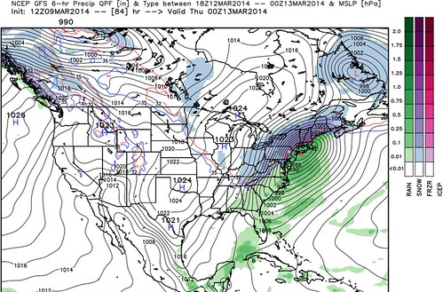 GFS northeast storm