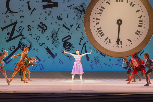 Beatriz Stix-Brunell as Alice and Artists of the Royal Ballet in Alice's Adventures in Wonderland, The Royal Ballet © ROH / Johan Persson 2013