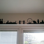 London Cityscape above Kitchen Window
