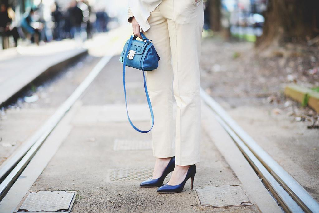 Semana de la moda en Milán - Look crema