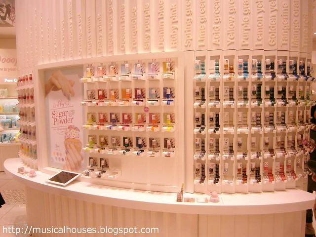 Etude House flagship store nail polish counter