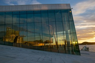 Oslo Opera House Sunset