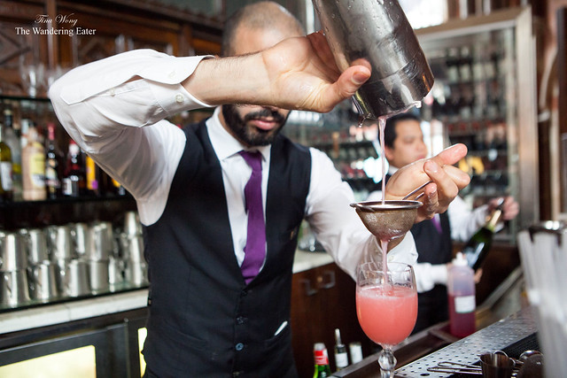 Pouring the East India Cocktail