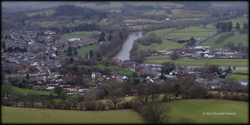 river town view fields powys wye builthwells builth