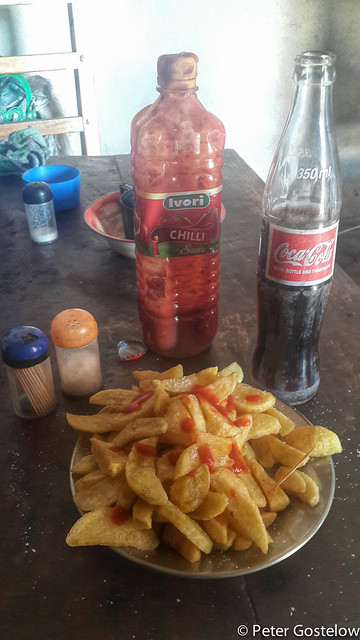 Hot chips and coke