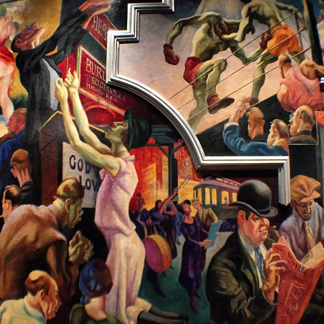 Thomas hart benton 39 s amazing america today mural at the for America today mural