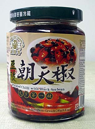 Pickled Chilli with black soybean