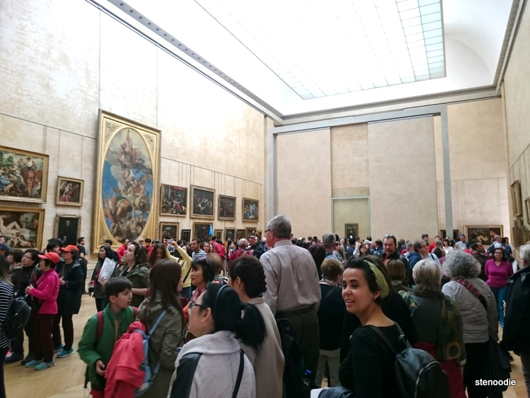 room where Mona Lisa painting is kept