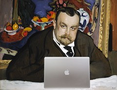 Ivan Morozov Blogging, after Valentin Serov